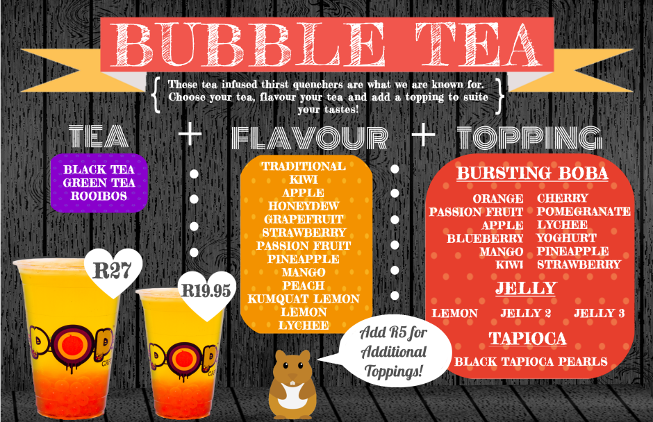 Pop Cafe Bubble Tea Menupopcafe.co.za